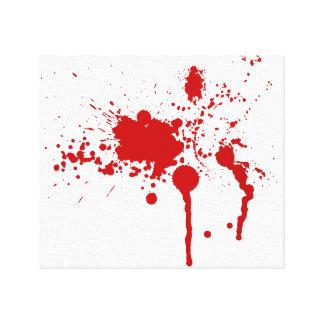 Herida sangrienta de la salpicadura de la sangre q impresiones en lienzo estiradas