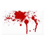 Herida sangrienta de la salpicadura de la sangre q tarjetas de negocios