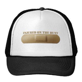 Herido en el gorra de la caza