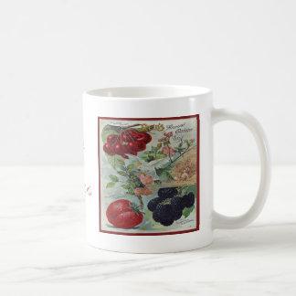 heriloom garden seed catalog classic white coffee mug