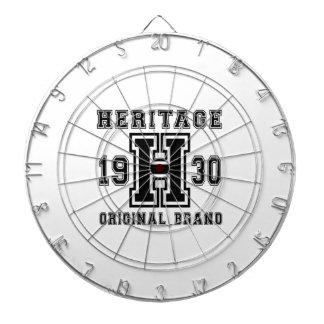 HERITAGE 1930 ORIGINAL BRAND BIRTHDAY DESIGNS DARTBOARD WITH DARTS