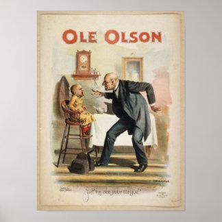 Heritage Americana Ole Olson Poster