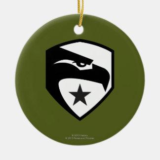 Heritage Black Eagle Christmas Ornaments