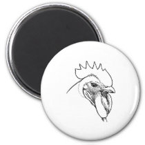Heritage Breed Chicken - Plymouth Rock Rooster Magnet