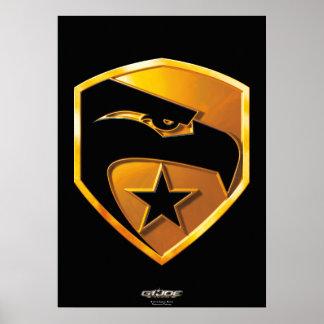 Heritage Gold Eagle Poster