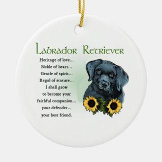 Heritage Labrador Retreiver Puppy Gifts Ceramic Ornament