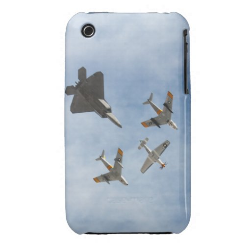 Heritage - P-51 Mustang,F-86-F Saber,F-22A Raptor iPhone 3 Cases