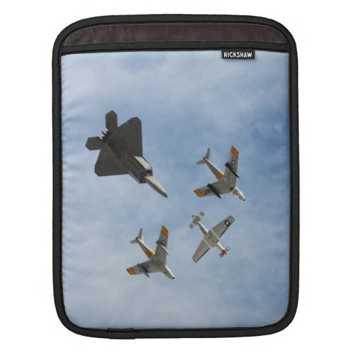 Heritage - P-51 Mustang,F-86-F Saber,F-22A Raptor Sleeve For iPads