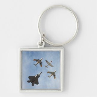 Heritage - P-51 Mustang F-86-F Saber F-22A Raptor Key Chain