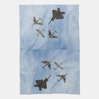 Heritage - P-51 Mustang,F-86-F Saber,F-22A Raptor Towel