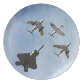 Heritage - P-51 Mustang,F-86-F Saber,F-22A Raptor Party Plate