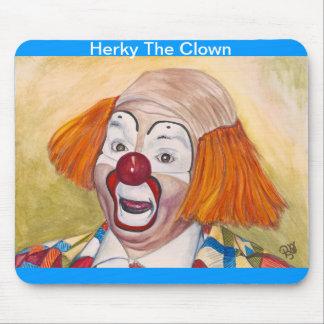 Herky The Clown Mousepads