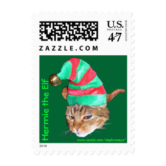 Herm as Hermie the Elf First Class Postage