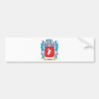 Herm Coat of Arms - Family Crest Car Bumper Sticker