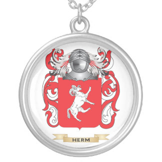Herm Coat of Arms (Family Crest) Personalized Necklace