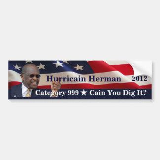 Herm de Hurricain para el presidente Pegatina Para Auto