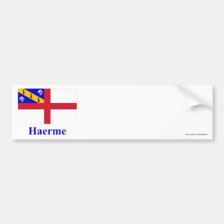 Herm Flag with Name in Guernesiais Car Bumper Sticker