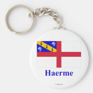 Herm Flag with Name in Guernesiais Keychains