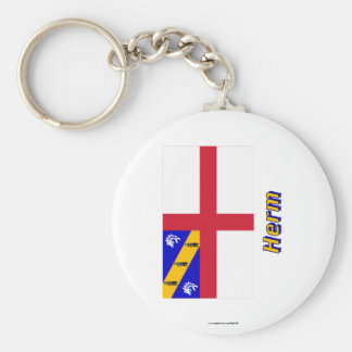Herm Flag with Name Key Chain