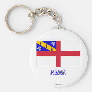 Herm Flag with Name Keychain