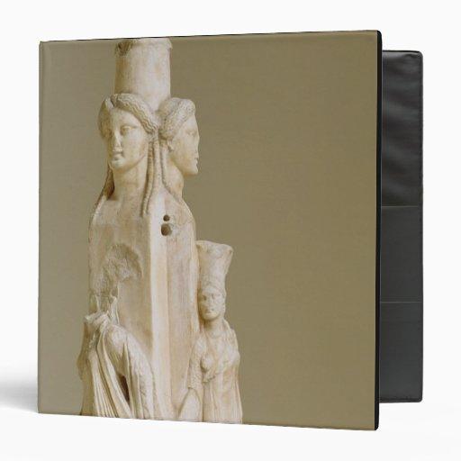 "Herm triforme de Hecate, escultura de mármol, el Carpeta 1 1/2"""