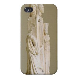 Herm triforme de Hecate, escultura de mármol, el P iPhone 4 Carcasa