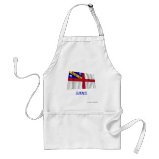 Herm Waving Flag with Name Adult Apron