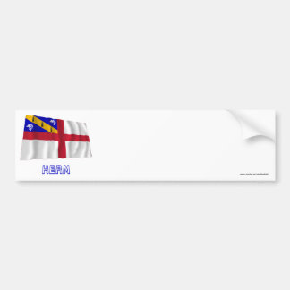 Herm Waving Flag with Name Car Bumper Sticker