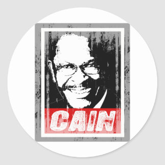 HERMAIN CAIN INK BLOCK.png Round Sticker
