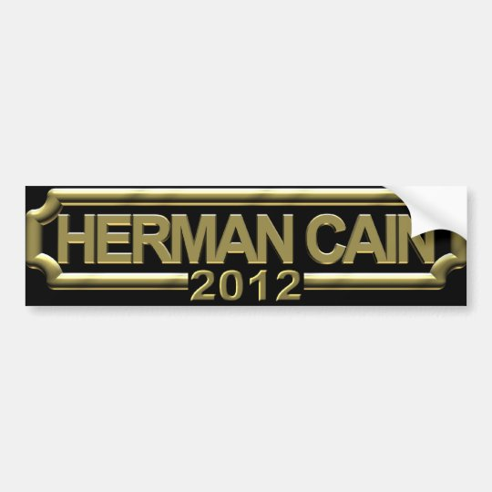 Herman Cain 2012 Bumper Sticker