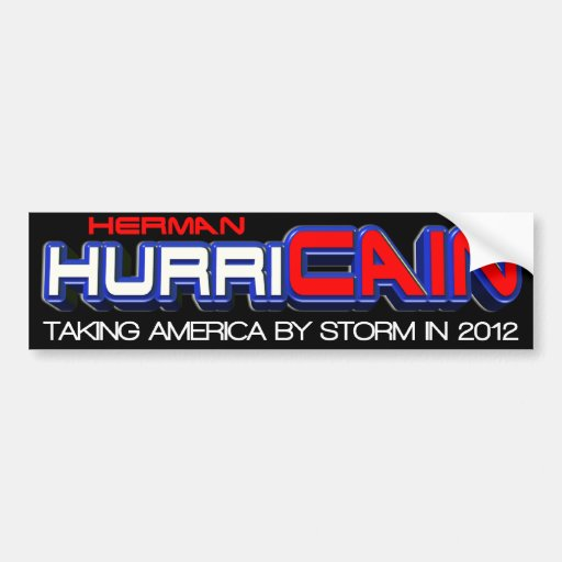 Herman Cain 2012 Bumper Stickers