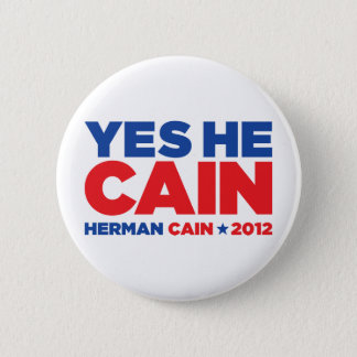Herman Cain 2012 Button