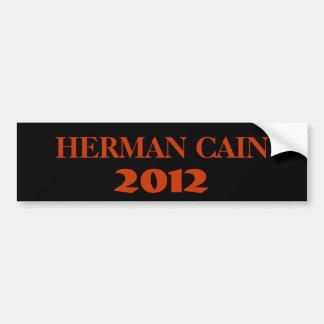 HERMAN CAÍN 2012 ETIQUETA DE PARACHOQUE