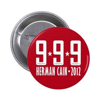 Herman Caín 2012 Pin Redondo De 2 Pulgadas