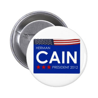 Herman Cain 2012 Pinback Button