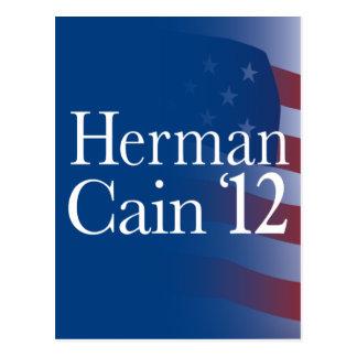Herman Cain 2012 Postcard