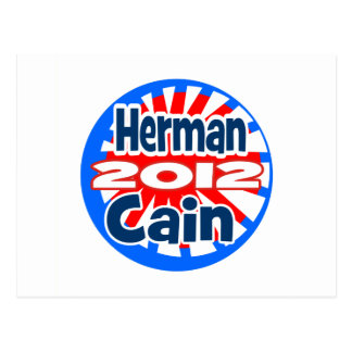 Herman Cain 2012 Post Cards
