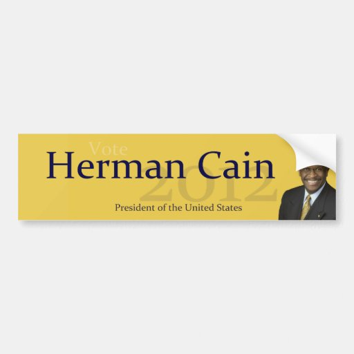 Herman Cain 2012 President of the United States Bumper Stickers