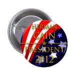 Herman Cain 2012 Presidential Button