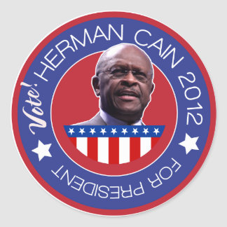Herman Cain 2012 - US Presidentiables Classic Round Sticker