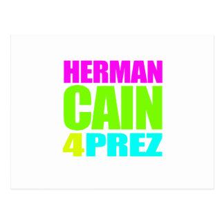 HERMAN CAÍN 4 PREZ TARJETA POSTAL