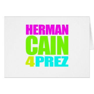 HERMAN CAÍN 4 PREZ TARJETON