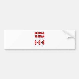 Herman Cain 999 Plan Car Bumper Sticker