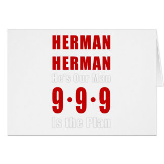 Herman Cain 999 Plan Card