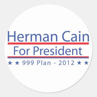 Herman Cain 999 Plan Classic Round Sticker