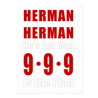 Herman Cain 999 Plan Postcard