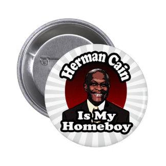 Herman Caín es mi Homeboy, estilo retro Pin Redondo 5 Cm