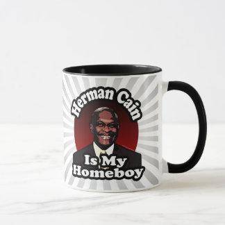 Herman Caín es mi Homeboy, estilo retro Taza