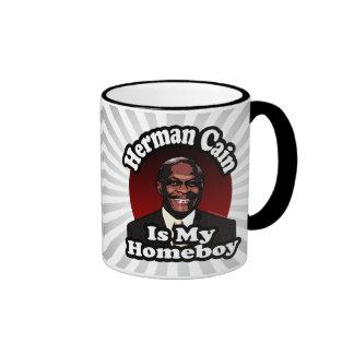 Herman Caín es mi Homeboy, estilo retro Tazas De Café