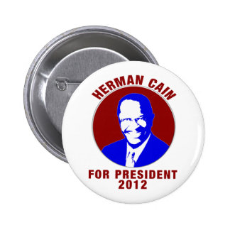 Herman Cain For President 2012 2 Inch Round Button